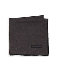 Ralph Lauren Glen Plaid Wool And Silk Pocket Square Brown