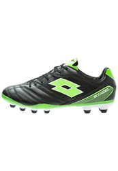Lotto Stadio 300 Fg Football Boots Black Mint Fluo