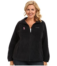 Columbia Plus Size Tested Tough In Pink Benton Springs Full Zip Black Women's Coat