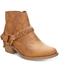 Xoxo Glorius Western Ankle Booties Women's Shoes Tan