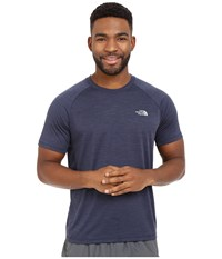 The North Face Ambition Short Sleeve Shirt Cosmic Blue Heather Men's Short Sleeve Pullover