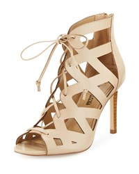 Neiman Marcus Collee Laser Cut Lace Up Sandal Grezzo