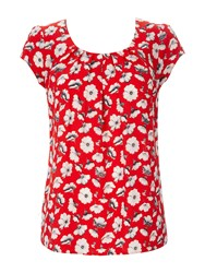 Wallis Petite Red Pansy Shell Top