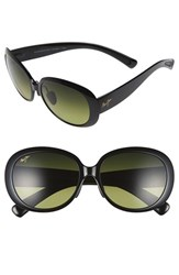 Women's Maui Jim 'Nahiku' 59Mm Polarized Sunglasses Gloss Black Maui Ht