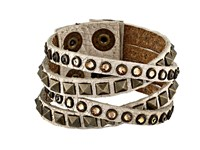 Leather Rock B340 Cracked White Bracelet