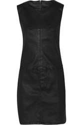 Current Elliott The Shift Coated Denim Dress Black