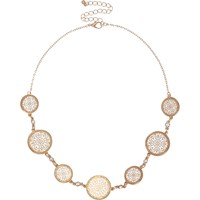 River Island Womens Gold Tone Circle Filigree Necklace