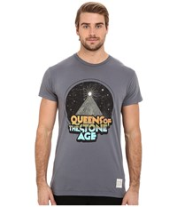 The Original Retro Brand Vintage Cotton Queens Of The Stone Age Short Sleeve Tee Charcoal Men's Short Sleeve Pullover Gray