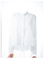 Giamba Sheer Panel Shirt White