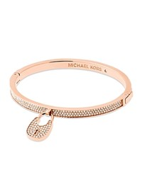 Michael Kors Pave Lock Bangle Rose Gold