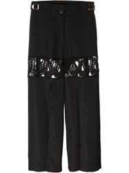 Sacai Lace Panel Trousers Black