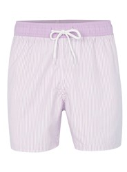 Topman Purple Stripe Swim Shorts