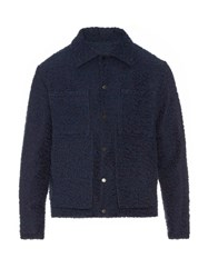 Craig Green Double Pocket Boucle Field Jacket Navy