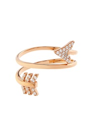 Aamaya By Priyanka Topaz And Rose Gold Plated Arrow Twist Ring