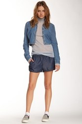 Blanknyc Denim Elastic Waist Short Blue