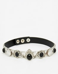 Asos After Party Hardware Choker Necklace Black