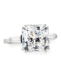 Fantasia Radiant Cut Cz Solitaire Ring 6 1 2