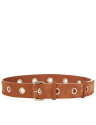 Vanessa Bruno Caramel Suede Rivet Waist Belt Brown