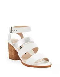 French Connection Ciara Strappy Sandal Heels White