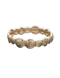 Lonna And Lilly Distressed Stretch Bracelet Gold