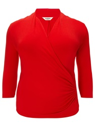 Studio 8 Agatha Ruched Jersey Top Red