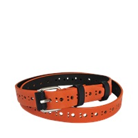 Carven Perforated Leather Belt