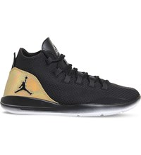Nike Jordan Reveal Leather And Mesh Trainers Black White Gold Q54