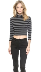 Bb Dakota Nichelle Cropped Turtleneck Black