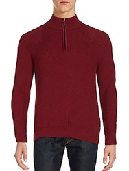 Porsche Ripped Wool Blend Sweater Wine