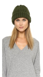 1717 Olive Cable Knit Beanie Olive