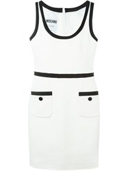 Moschino Scoop Neck Dress White