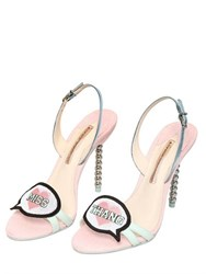 Sophia Webster 100Mm Miss Thang Glitter Leather Sandals