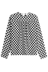 Msgm Silk Polka Dot Blouse Dots