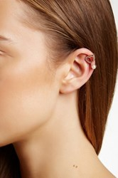 Berry Jewelry Heart And Faux Pearl Ear Cuff Metallic