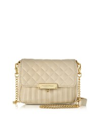 Roccobarocco Utopia Mini Quilted Eco Leather Crossbody Ivory