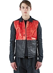 Rick Owens Mixed Panel Worker Jacket Black