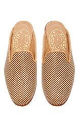 Stubbs And Wootton Straw Natural Mule Neutral