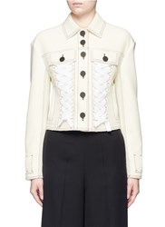 Proenza Schouler Lace Up Cropped Jacket White
