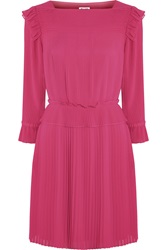 Alice By Temperley Rose Pintucked Georgette Mini Dress Pink