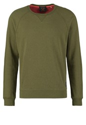 Scotch And Soda Long Sleeved Top Military Melange Oliv