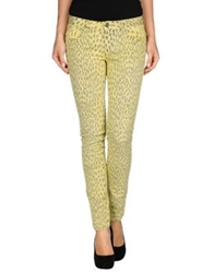 Gold Case Denim Pants Yellow