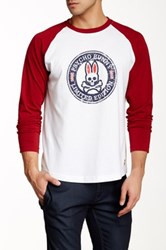 Psycho Bunny Retro Baseball Tee Red