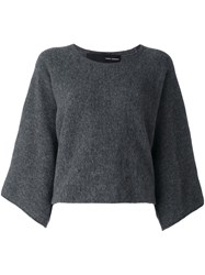 Isabel Benenato Cropped Jumper Grey