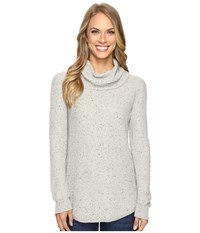 Lucky Brand Side Zip Turtleneck Heather Grey Women's Clothing Gray