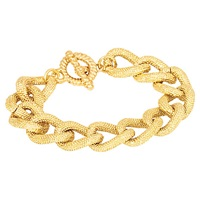 Adele Marie Textured Chunky Link Bracelet Gold