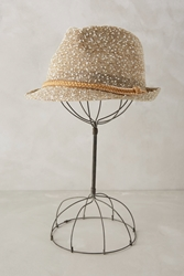 Anthropologie Killarny Fedora Gold