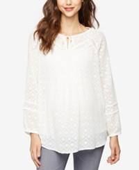 A Pea In The Pod Maternity Patterned Tunic Egret