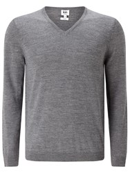 John Lewis Kin By Extra Fine Merino V Neck Jumper Charcoal
