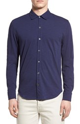 Men's Zachary Prell 'Howard' Trim Fit Cotton Jersey Sport Shirt