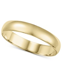 Macy's 14K Gold 4Mm Wedding Band No Color